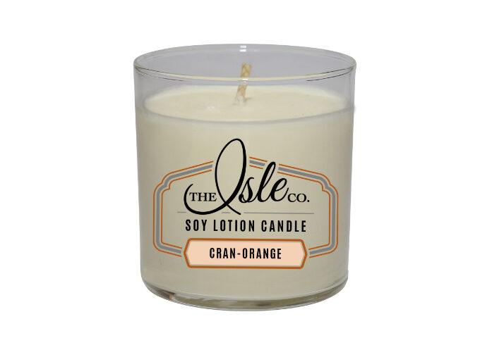 isle Cranberry Orange Soy Lotion Candle 9oz